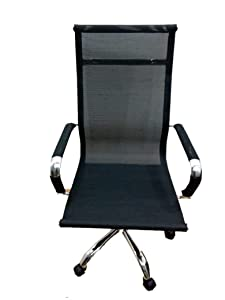 Elecktra Leather Executive Director High Back Metal Boss Chair with High Back Swivel Support and Arm Rest