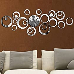 ptk12 Wall Clocks - New Quartz Wall Clock Modern Design Reloj De Pared Large Decorative Clocks 3D DIY Acrylic Mirror Living Room 1 PCs