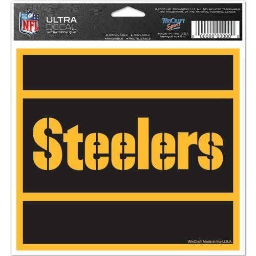 "NFL Pittsburgh Steelers 62271091 Multi-Use Colored Decal, 5"" x 6"" from Wincraft"