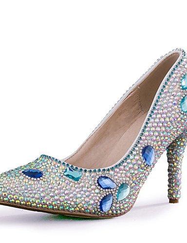 YHUJI GGX/talón de los zapatos de tacón de aguja zapatos de tacón de la boda/del partido de las mujeres&noche/vestido multicolor, 3in-3 3/4in-us8/eu39/uk6/cn39, 3in-3 3/4in-us8/eu39/uk6/cn39 3in-3 3/4in-us6 / eu36 / uk4 / cn36