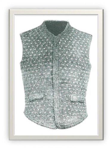 1101 Mens Bicycle And Golf Vest Vintage Crochet Pattern Single