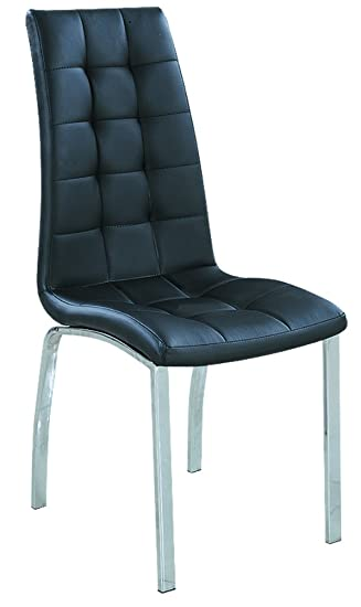 7Star Dining Chairs Faux Leather With Foam Padded Chrome Frame Furniture  Sales