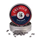 Crosman Premier Flat Match 500 Count .177-Caliber 7.9 grain Match Wadcutter Pellets, in a Tin