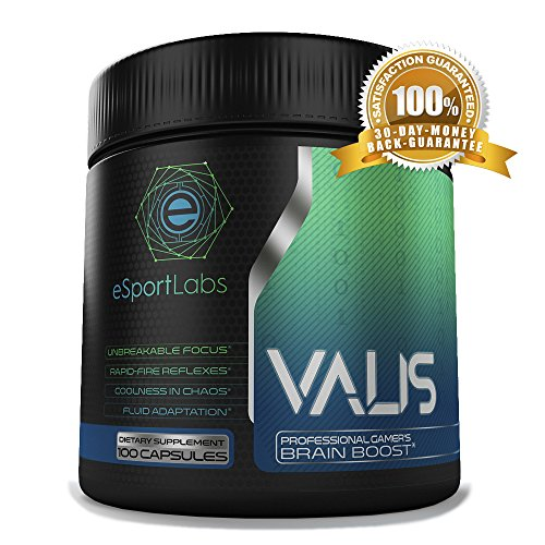 VALIS – eSports Best Nootropic Energy Supplement for Pro Gamers. The Clinically Tested Ingredients in our Most Popular Brain Boosting Pills are Designed to Improve Reflexes, Focus, Mood, and Cognition For Sale