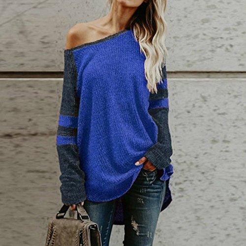 Femme Shirt Sexy D Sweater Col T Bateau Epaule laamei TwcOAqSO