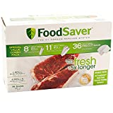 Special Value Combo Pack FoodSaver 8'' & 11'' Rolls & 36 Heat-Seal Pre-Cut Bags BPA free