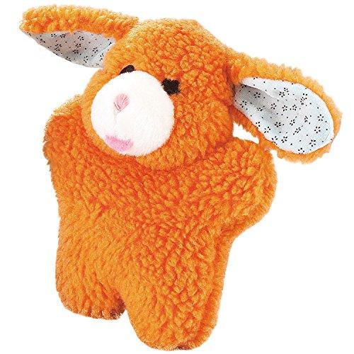 - Zanies Cuddly Berber Baby Bunny Dog Toys, Orange