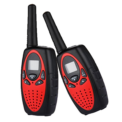 Floureon 2 Packs 22 Channel 2 Way Radios Kids Walkie Talkies Portable Toy Radio Transceiver (Red)