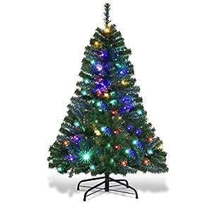 Amazon.com: Goplus 5FT Pre-Lit Artificial Christmas Tree ...