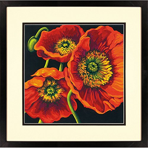 Dimensions Paint Works 73-91527 Red Poppy Trio Paint by Number Kit