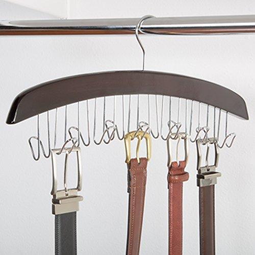 Belt Hanger Walnut (Richards Homewares Closet Accessories 12 Belt Hardwood Hanger - Dark Walnut)
