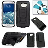 Customerfirst - Hard Shell Holster Combo Case For Samsung Galaxy S6 Phone Advanced