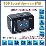 TOP Secret Spy Camera Mini Clock Radio Hidden DVR- Continuous power or battery (Black)