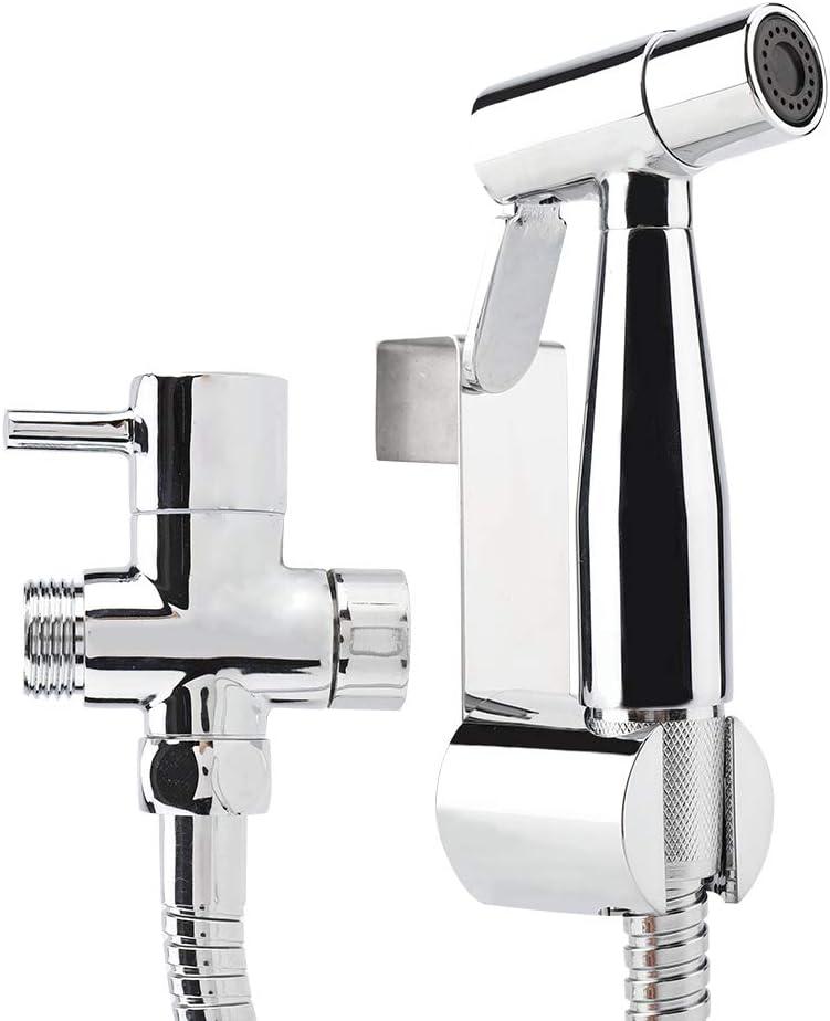 Fdit Hand Bidet Sprayer Set Solid Brass Handheld Cloth Diaper Sprayer Low to High Water Spray Wall Mount Shower Toilet Handheld Bidet Diaper Spray for Bathroom Self Cleaning