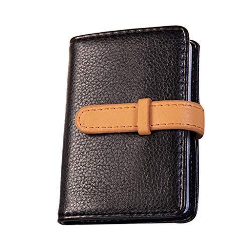 (Front Pocket Handcrafted Blocking Minimalist Slim Leather Wallet with Gift Box for Men and Women.)