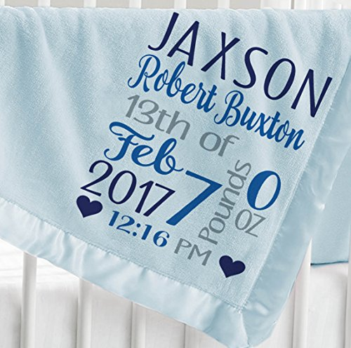 PERSONALISED BABY BLANKET EMBROIDERED LUXURY BUBBLE FEEL  GIFT