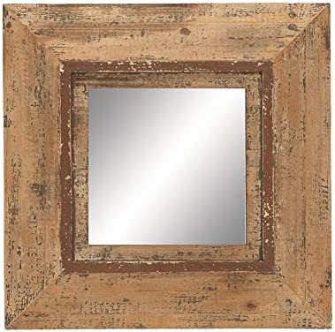 Deco 79 69268 Looking Glass Style Mirror with Old Look Square Frame