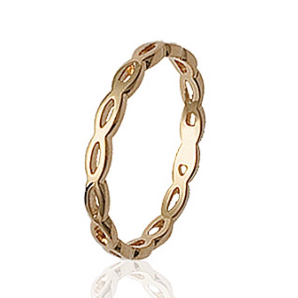 ISADY Kendja Gold Damen Ring 18 Karat (750) Gelbgold Vorsteckring Ehering Trauring