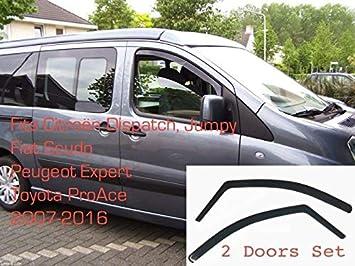 Peugeot Expert Toyota Proace Wind Rain Deflector Front 2/Piece Kit