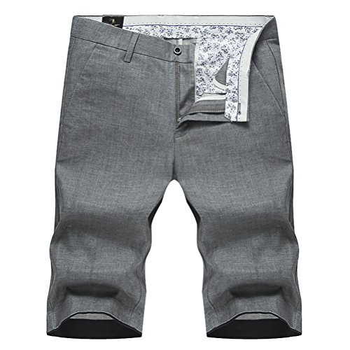 (モダンミス)Mordenmiss 綿麻 リネン ショートパンツ メンズ サマー ハーフパンツ チノショートパンツ リネンショーツ ナチュラル