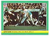 1984 Fleer Team Action Super Bowl VI #62 - Dallas Cowboys, Miami Dolphins, Roger Staubach