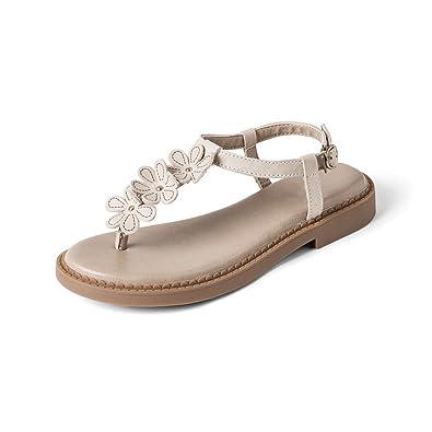 f5dbe48d64dc LIUXUEPIN Summer New Flowers Sen Women s Shoes Genuine Leather Retro Human  Character Clip Toe Shoe Shoe