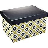 Caixa Organizadora Decorada Prontobox Losangos Grande - Polycart