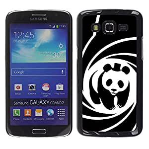 Paccase / SLIM PC / Aliminium Casa Carcasa Funda Case Cover para - Panda Bear Movie Hat Spiral Poster Cute - Samsung Galaxy Grand 2 SM-G7102 SM-G7105