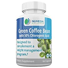 Green Coffee Bean Extract Weight Loss Supplement with GCA - 100% Natural By Nuveda Wellness - Burn More Fat, Manage Your Weight, Support Your Cardiovascular Health - 60 Capsules