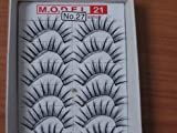 Model 21 Lashes No. 27 False Fake Eyelashes 10 Pairs