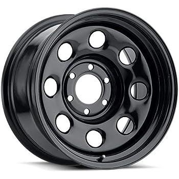 """15/"""" Vision 85 Soft 8 Gloss Black Steel Wheel 15x10 5x4.5-39mm 5 Lug Truck Rim"""