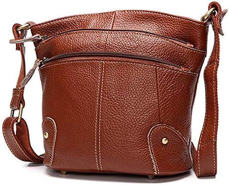 女性の本物のレザーバケツバッグ種族のショルダーバッグサッチェルハンドバッグ YZUEYT