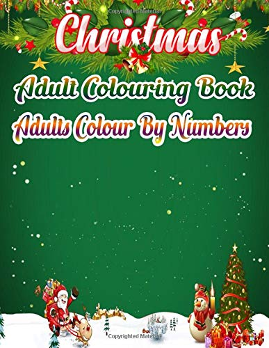 Christmas Color By Number Coloring Book For Kids: 50 Color By Numbers  Christmas Coloring Pages for Kids by Coloring Zone Press House | 500x387