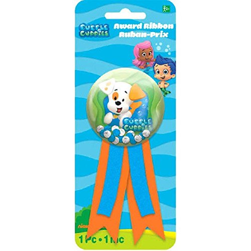 Adorable Bubble Guppies Confetti Pouch Birthday Party Award Ribbon Game Activity, 3