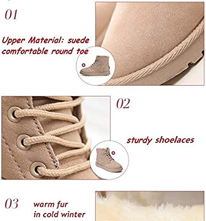 wangxiyan Design Womens Shoes Winter Snow Booties Beige Black Cute Warm Ankle Boots for Hot Fashion Shoes Brown,37