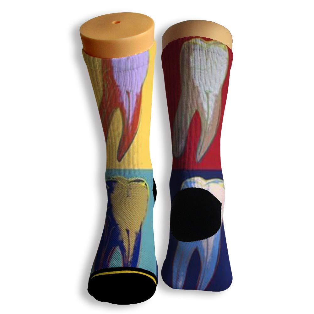 Basketball Soccer Baseball Socks by Potooy Cavities of Teeth 3D Print Cushion Athletic Crew Socks for Men Women