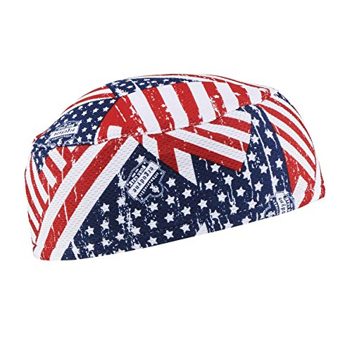 Ergodyne Chill-Its 6630 Absorptive Moisture-Wicking Skull Cap, Stars and Stripes