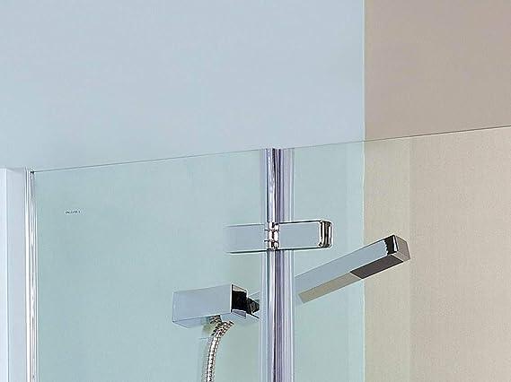 VeeBath SSF031 Mampara de ducha plegable de cristal de seguridad de 5 mm, 1400 x 750 mm, cromado: Amazon.es: Bricolaje y herramientas