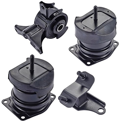 Engine Motor and Rear Trans Mount Set of 4 for 1998-2003 Honda Accord 3.0L Acura TL ()