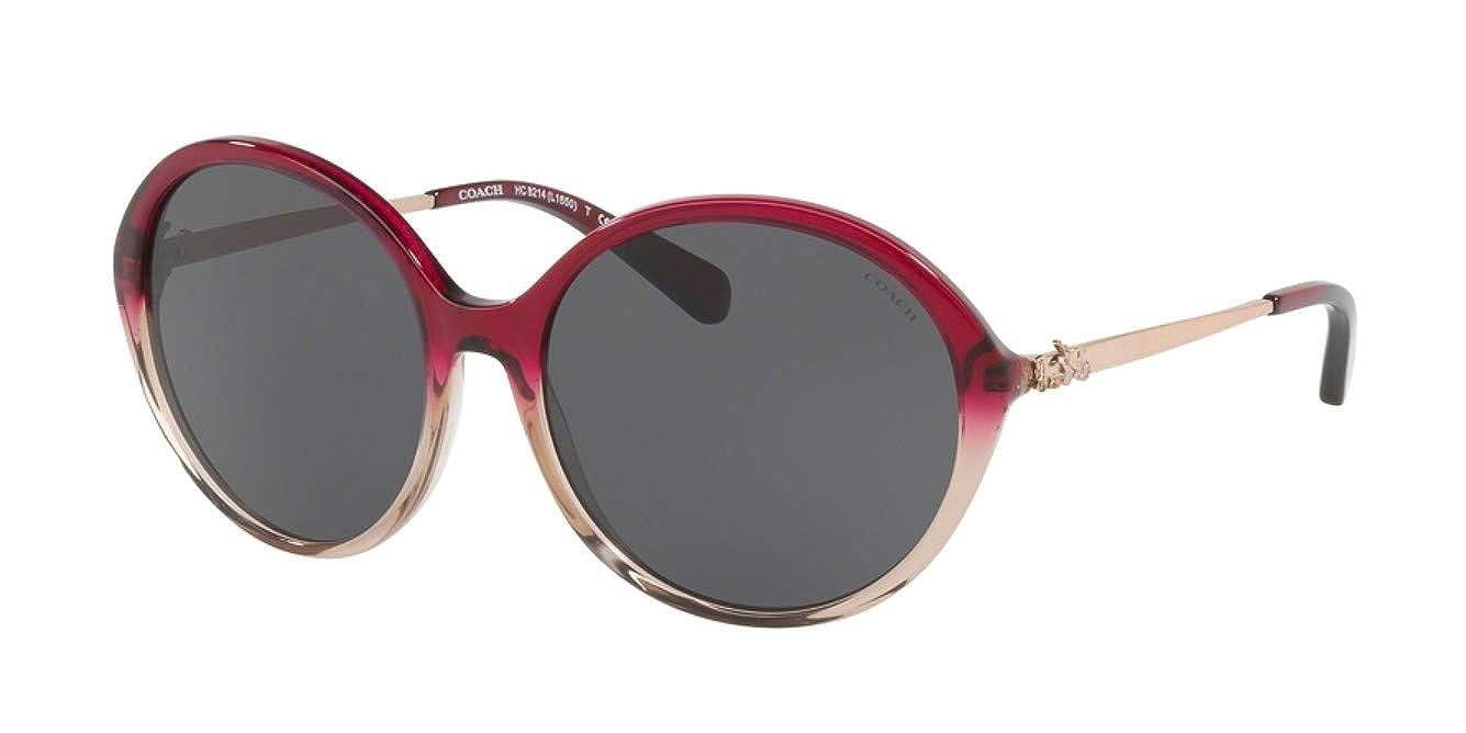 b2b76fbdf7 Amazon.com  Coach Womens Sunglasses Black Grey Acetate - Polarized - 57mm   Clothing