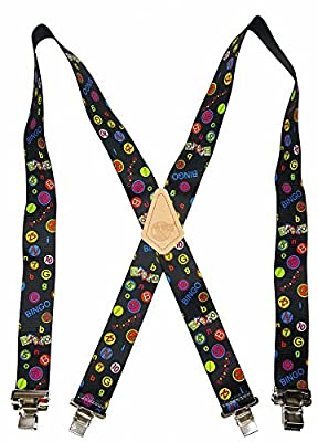 "Usa Made Custom Suspenders • 2"" Wide • Strong Metal Clips • Buy American !"