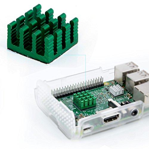 Aukru 3X Disipador de Calor heatsinks para Raspberry Pi 3 Model B, B+/ Pi 2 Model B (Aluminio & Cobre)
