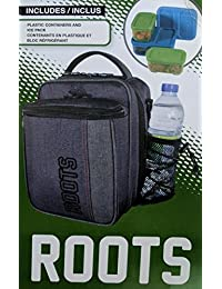 Roots 73 Insulated Lunch Box with 3 Containers and 1 Ice Pack (Grey)