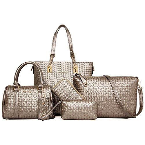 Aoligei Femmes sac à main sac de fille féminin paquet centaines mode marée C