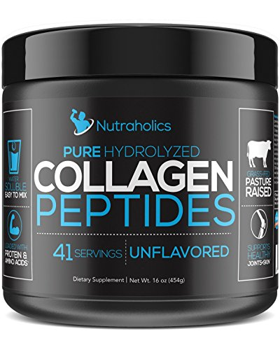 Collagen Peptides Protein Powder | Hydrolyzed, Grass Fed, Unflavored, Certified Paleo & Keto Friendly | 11 Grams per Serving | 16 Oz. Bottle