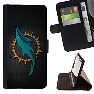 DEVIL CASE - FOR Sony Xperia Z1 L39 - cool dolphin sn carbon art - Style PU Leather Case Wallet Flip Stand Flap Closure Cover