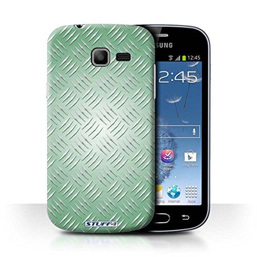 Coque de Stuff4 / Coque pour Samsung Galaxy Fresh Duos/S7392 / Vert Design / Motif en Métal en Relief Collection