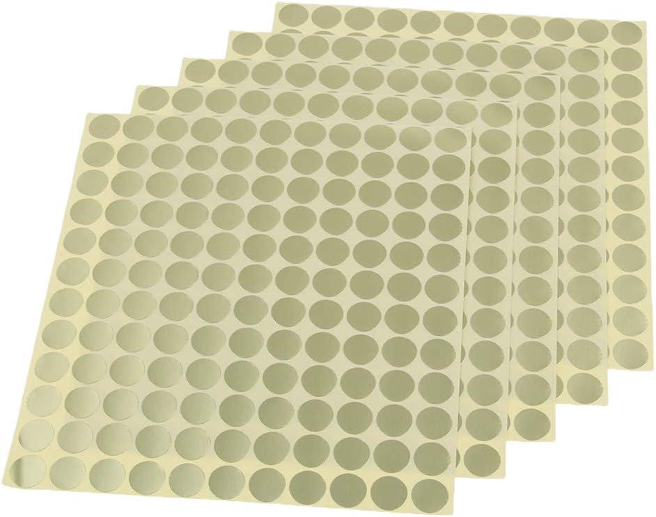 Blanc Baoblaze 5pcs Feuilles Etiquettes Huile Essentielle Autocollantes Code-couleur Ronds Bouteille