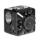 Tvird Mini Camera, SQ10 Mini DV Camera 1080P Full HD Car DVR Recorder Motion Wireless Aluminum Video Camera with Night Vision-Security Camera for Vehicle, Home and Office Surveillance