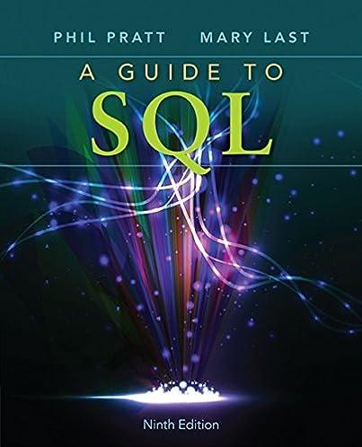 a guide to sql philip j pratt mary z last 9781111527273 amazon rh amazon com a guide to sql 9th edition pdf a guide to sql quizlet
